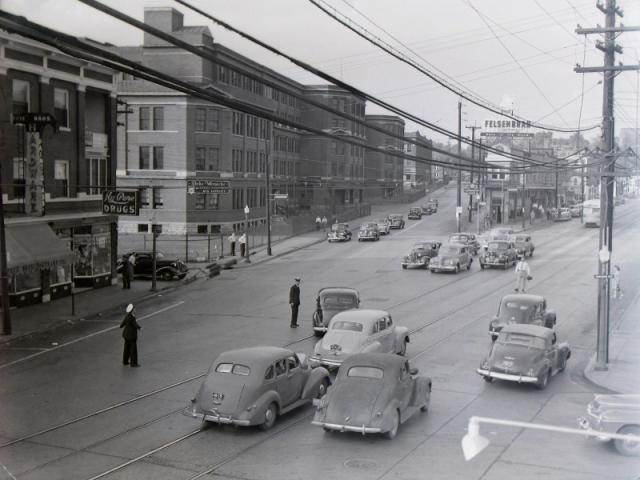 1950s: Main and Norwood Ave